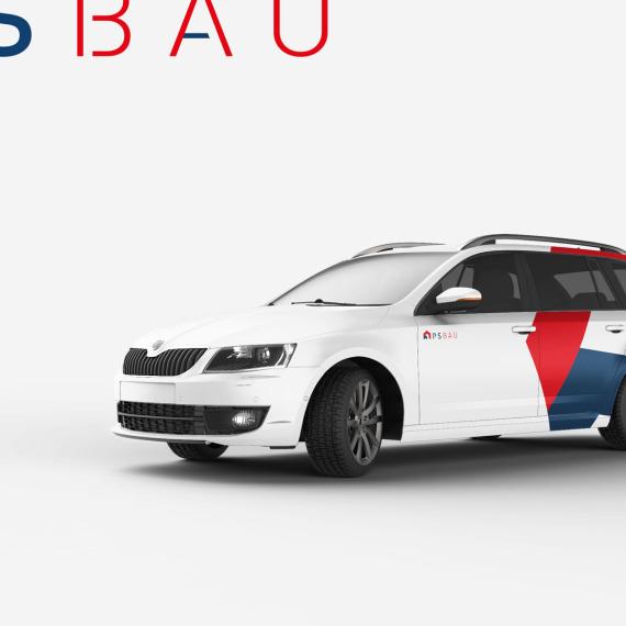 Polep automobilu Škoda Octavia PS BAU